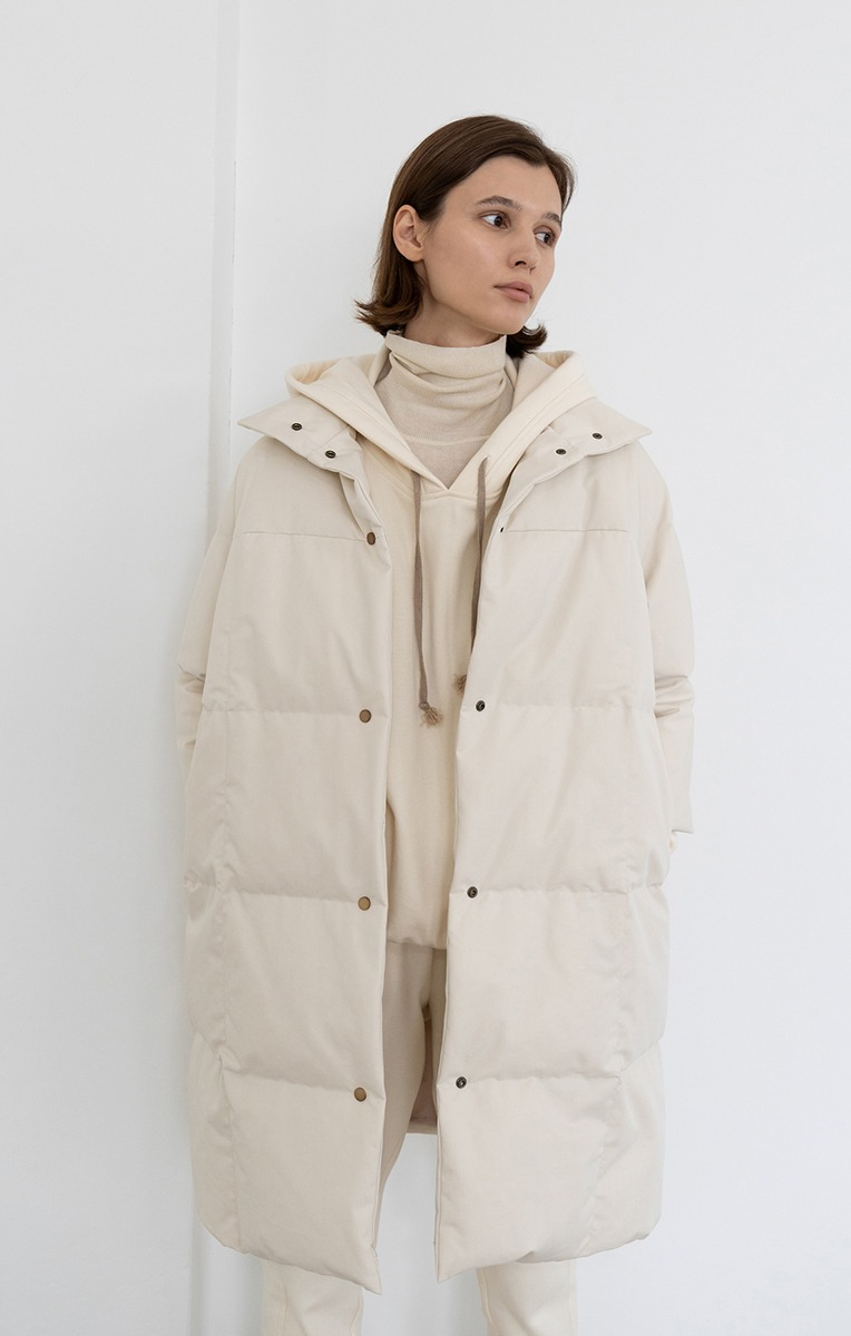 Covent quilted down coat