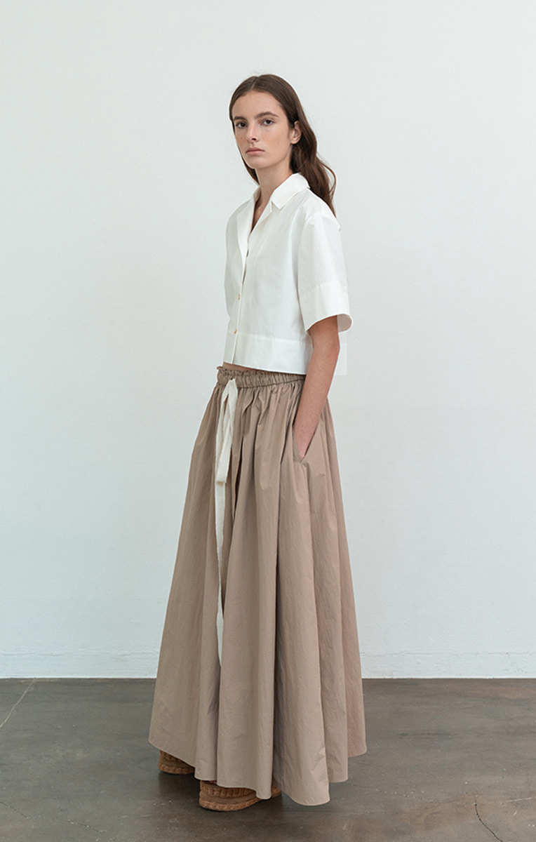 [Pre-order ~7/23] Gathered Maxi Skirt (8/5부터 순차배송)